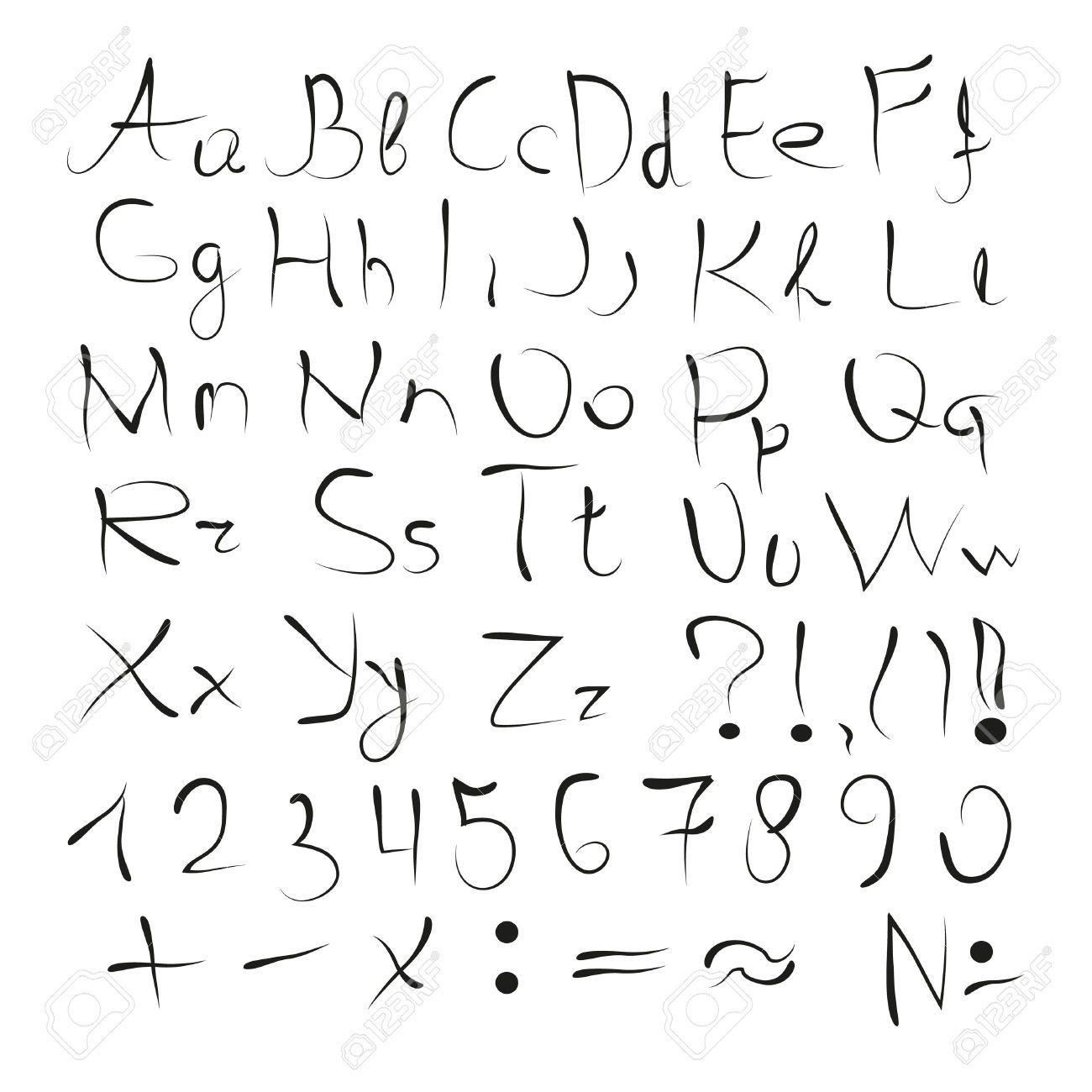 1300x1300 40048092 The English Alphabet Printed Uppercase Letters Numbers