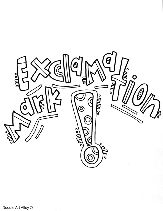 618x800 Punctuation Coloring Pages
