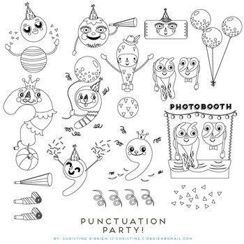 350x350 Punctuation Party! Punctuation Marks Clip Art Set Punctuation