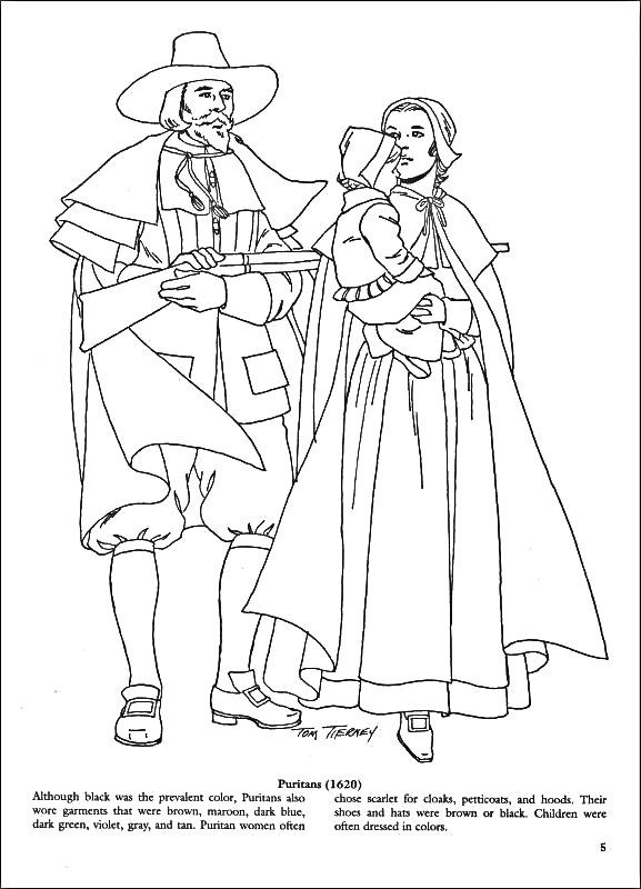 577x800 Puritan Coloring Page Coloring Pages