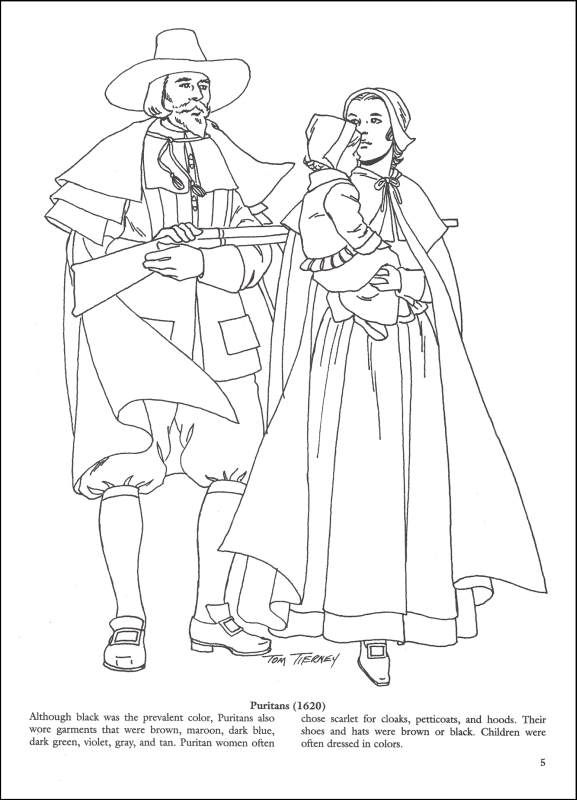 577x800 Colonial Clothes Coloring Pages Colonial And Early American