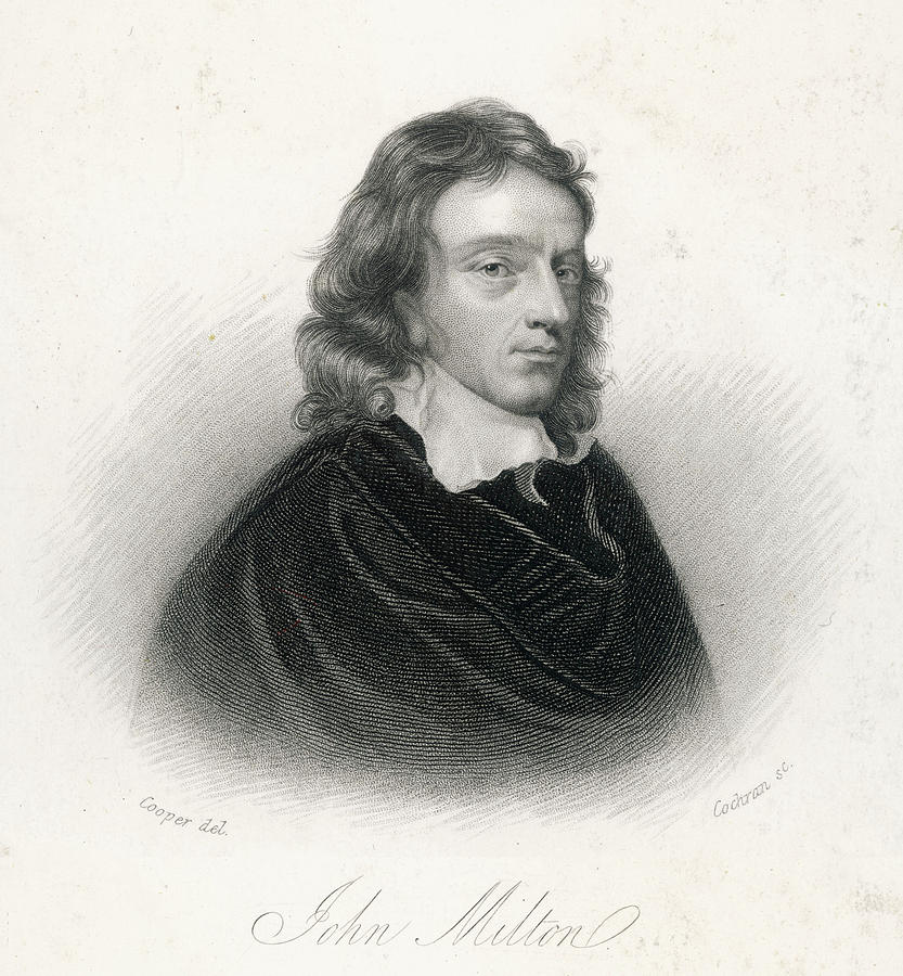 833x900 John Milton English Poet And Puritan Drawing By Mary Evans Picture