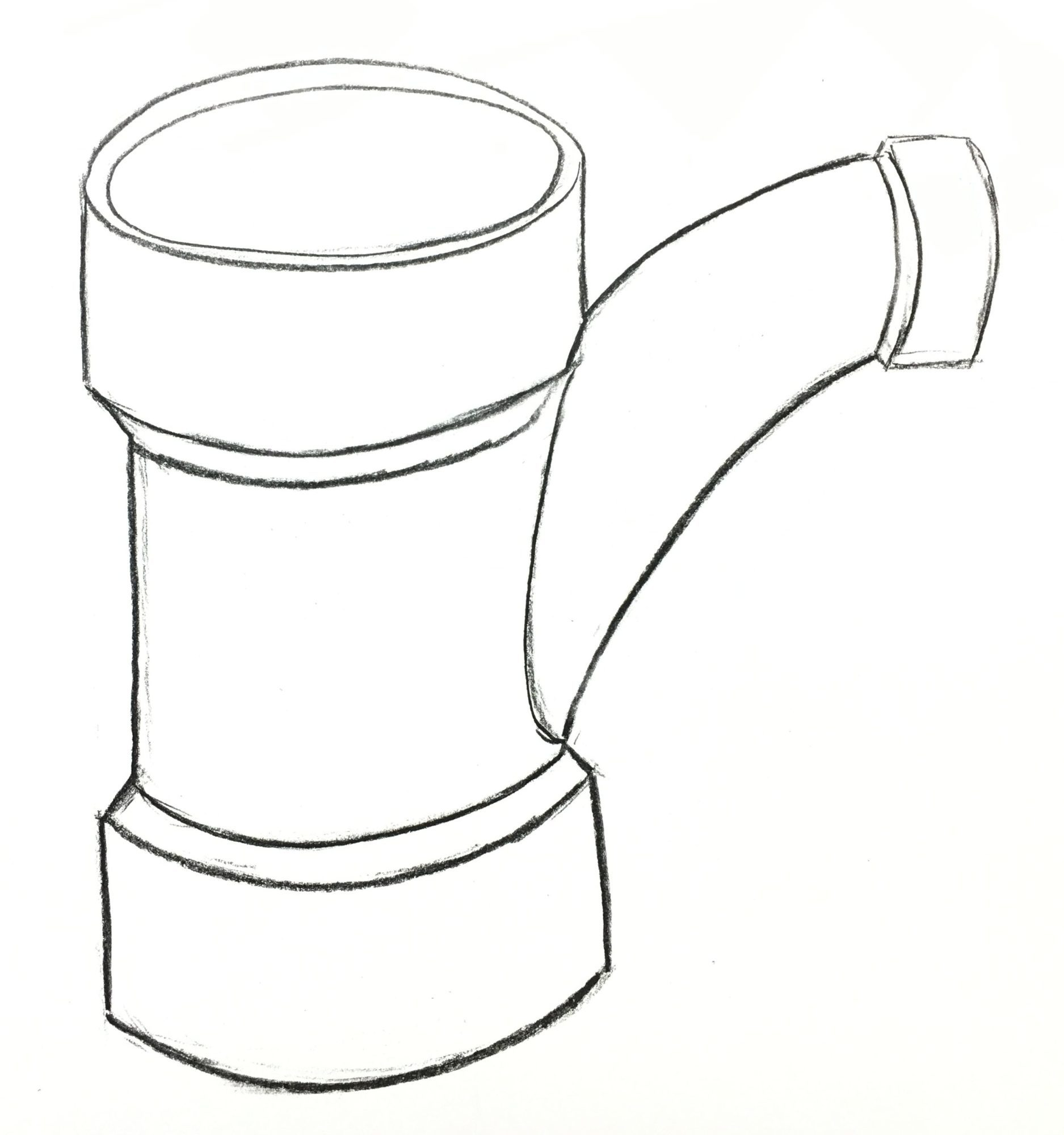 1875x2000 Pvc Pipe Charcoal Drawing