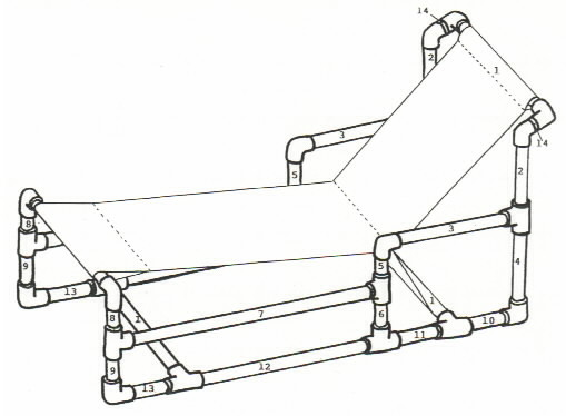 509x374 Recycle Pvc Pipe Furniture For Chaise Lounge Chair Plan