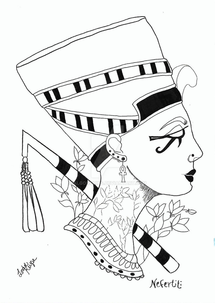 Queen Nefertiti Drawing at GetDrawings com | Free for personal use