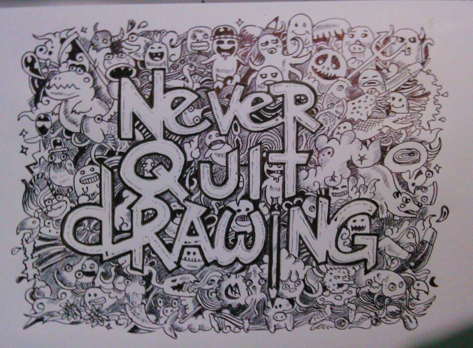 951x700 Never Quit Drawing By Abhimanyudalal