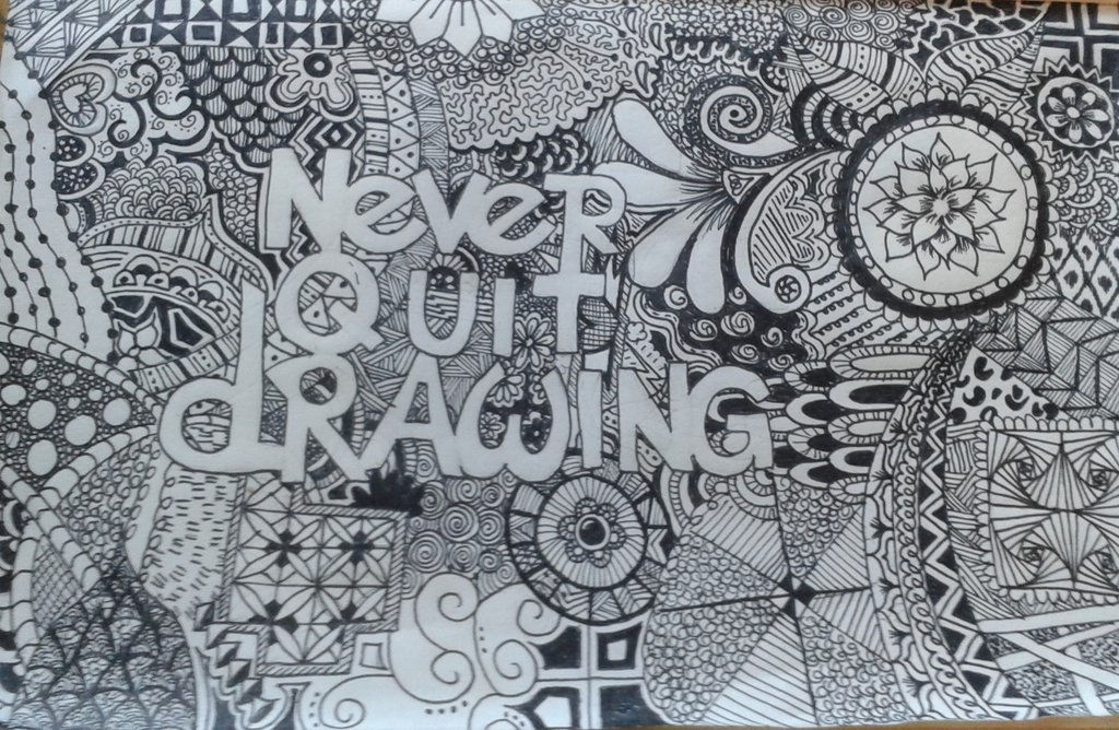 1024x668 Never Quit Drawing By Katemakkink