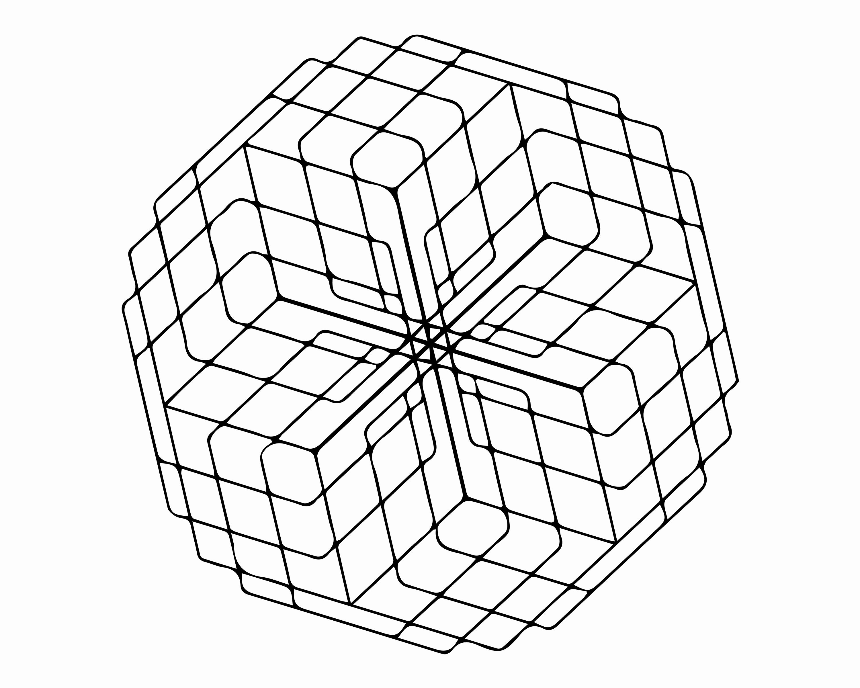 3000x2400 Coloring Pages Image Hd Free For Adults Printable Geometric Shapes