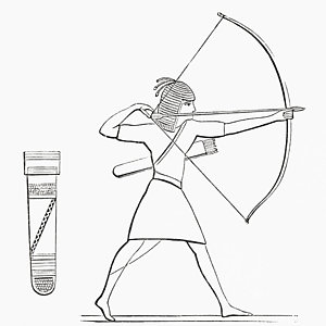 300x300 Egyptian Archer And Quiver. From The Drawing By Vintage Design Pics