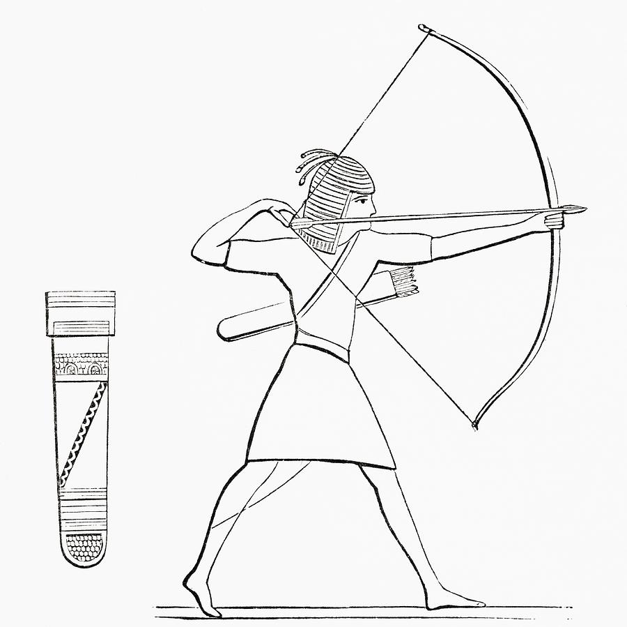 900x899 Egyptian Archer And Quiver. From The Imperial Bible Dictionary