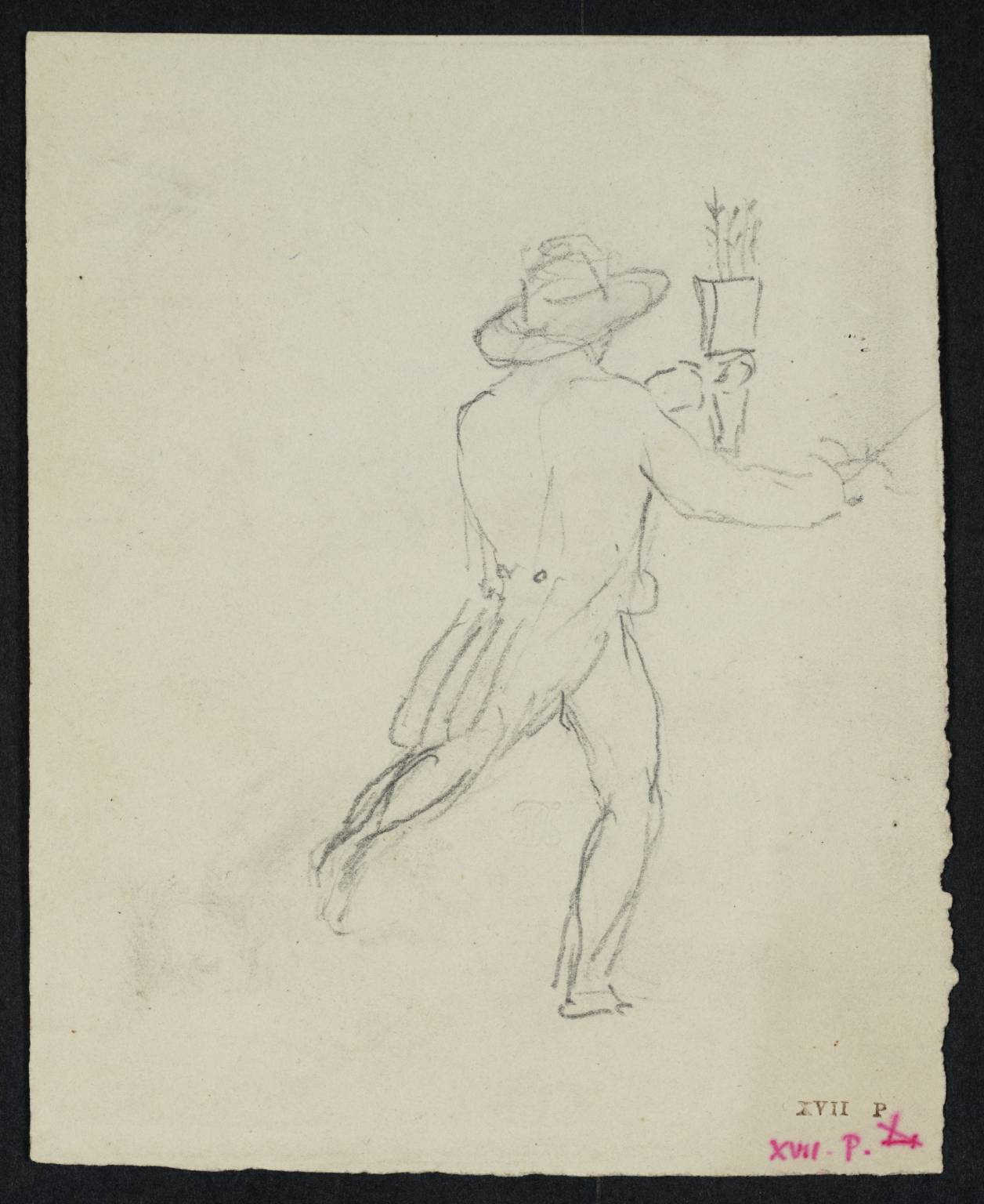 1256x1536 Back View Of A Man Running, Holding A Quiver', Joseph Mallord
