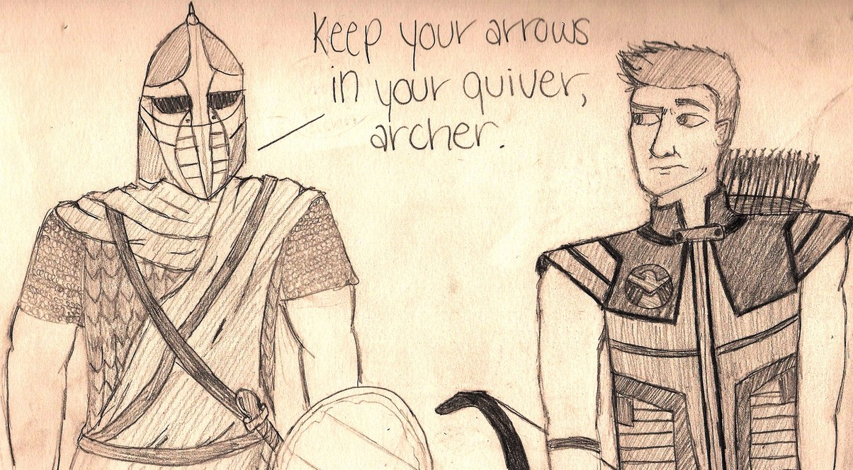 1204x664 Keep Your Arrows In Your Quiver, Archer. By Holleester
