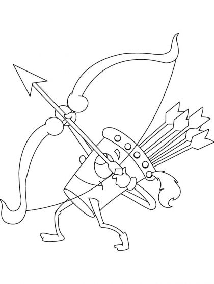 420x556 Archery Coloring Page Download Free Archery Coloring Page