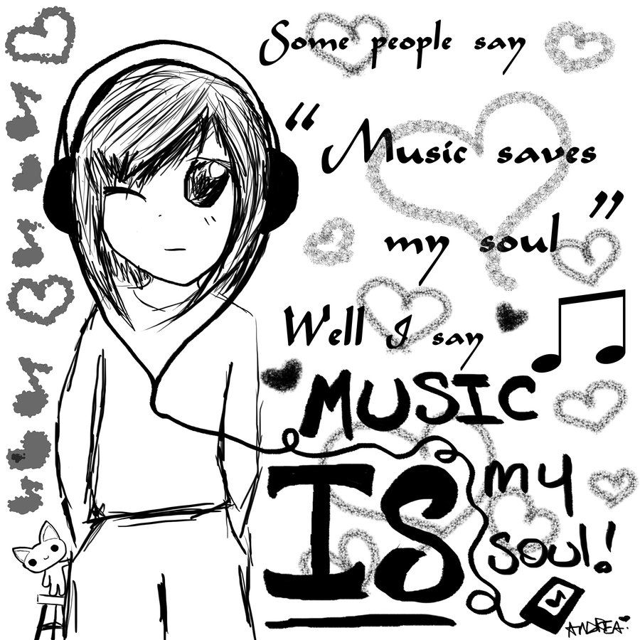 900x900 Music Is My Soul Music Quote Art Drawing Sketch Soul Love Music