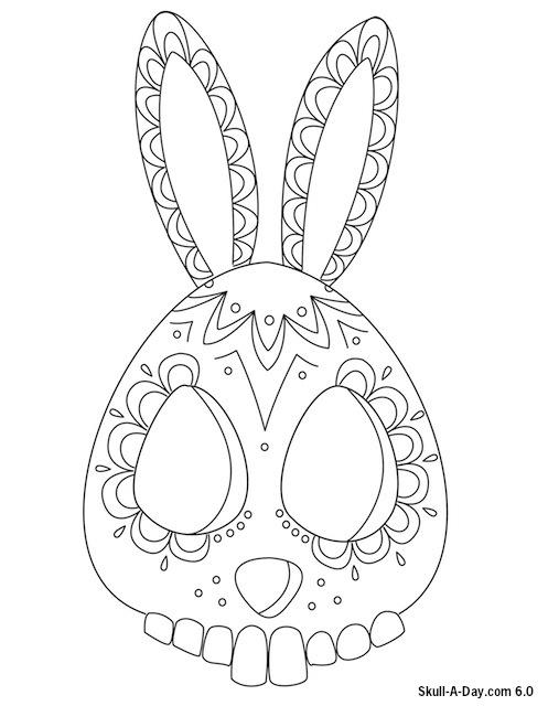 497x640 Sugar Skull Bunny