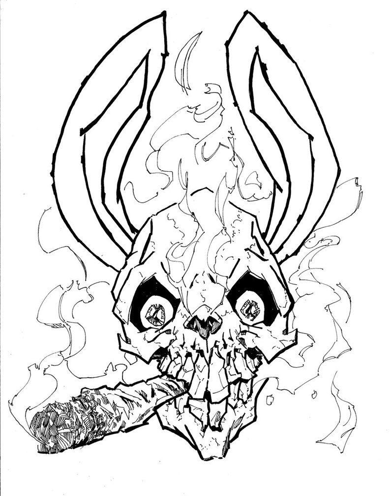 793x1008 Bunny Skull Tattoo Bunny, Character Art And Characters