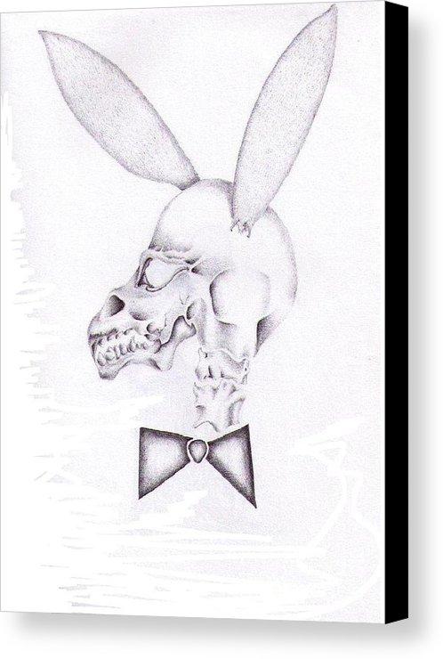 498x740 Playboy Skull Canvas Print Canvas Art By Garrett Wright