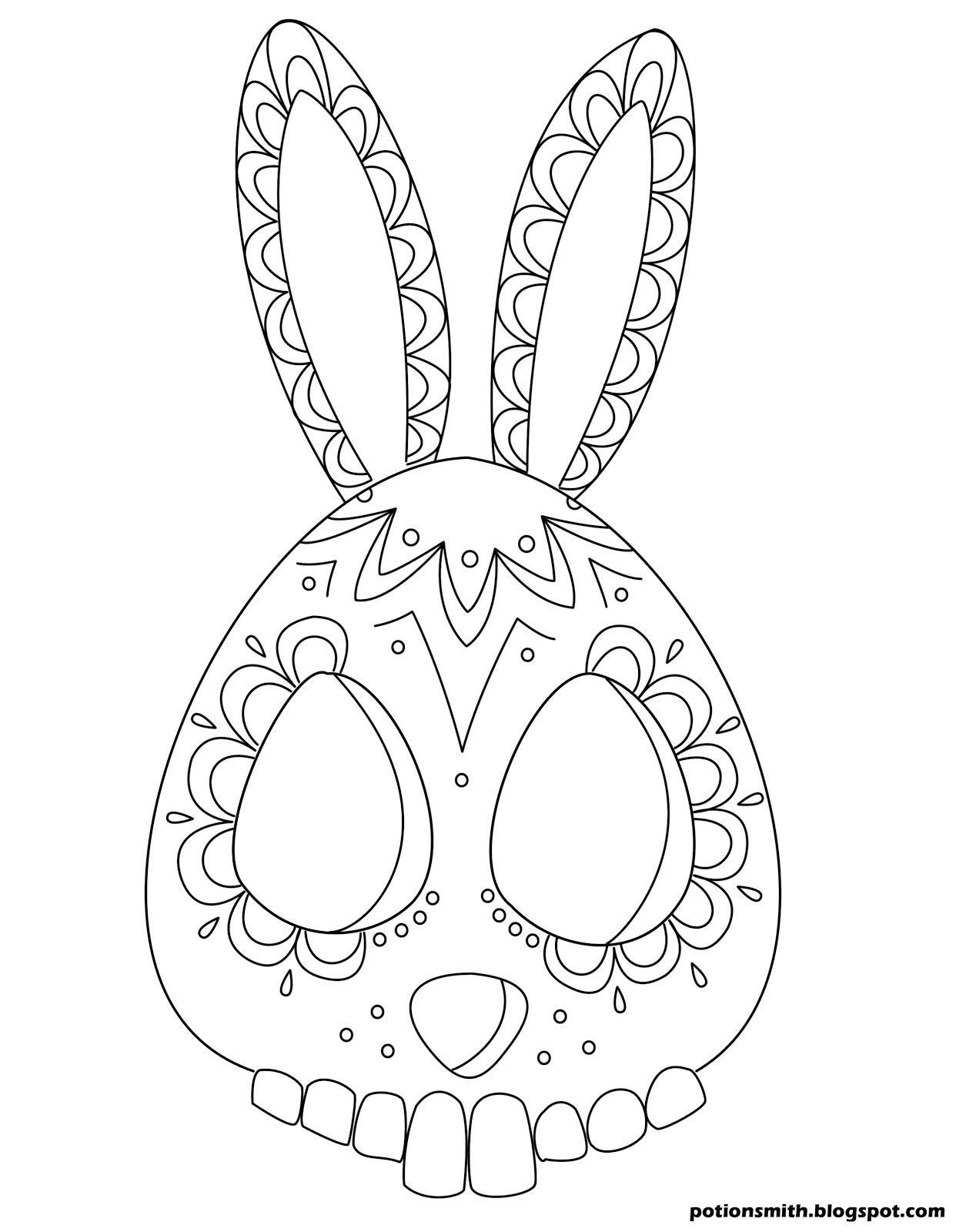 1242x1600 This Bunny Sugar Skull Is Kind Of Easter Eggy. Potionsmith Sugar