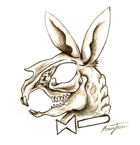450x466 Playboy Bunny Skull By Wikidtron