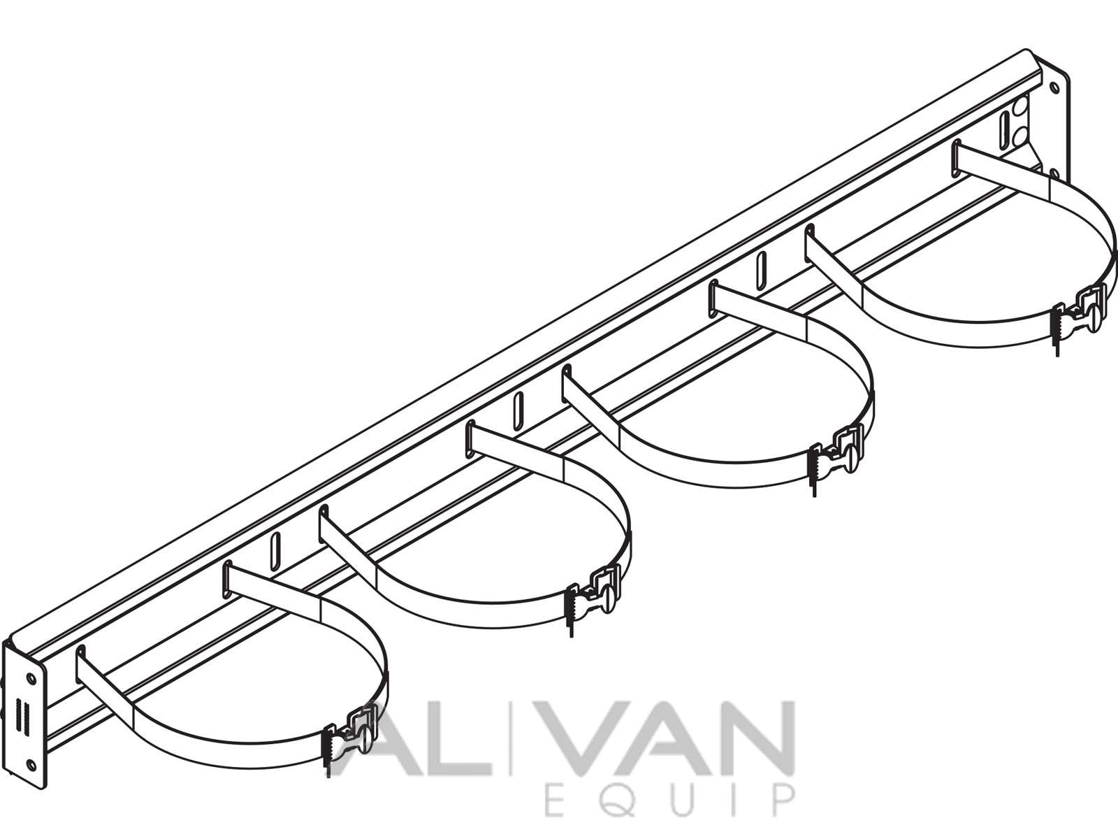 1600x1200 Refrigerant Rack With Straps For Vans 48 6030 Line Drawing Al
