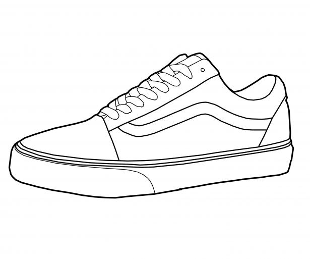 615x513 Shoe Rack Shoe Drawing Rack Vans Drawings Pehealth Van