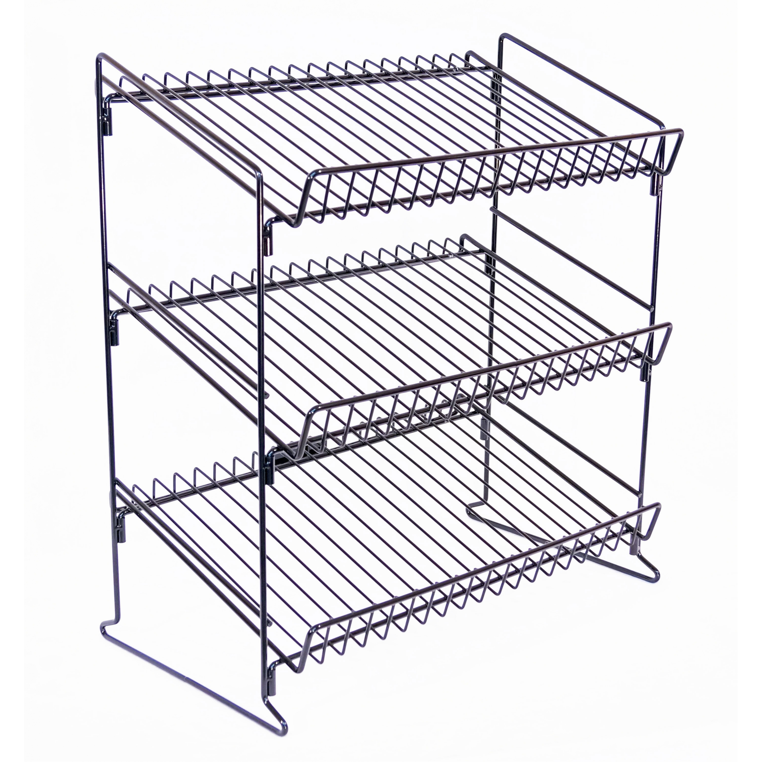 3000x3000 3 Shelf Wire Counter Display Rack