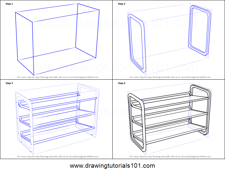 751x581 How To Draw Shoe Rack Printable Step By Step Drawing Sheet