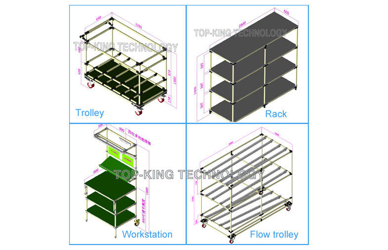 785x505 Joint System Steel Pipe Rack Cad Drawing Model Industrial Shelving