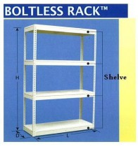 196x213 Steel Furniture Boltless Rack Drawing Rack, Cabinet