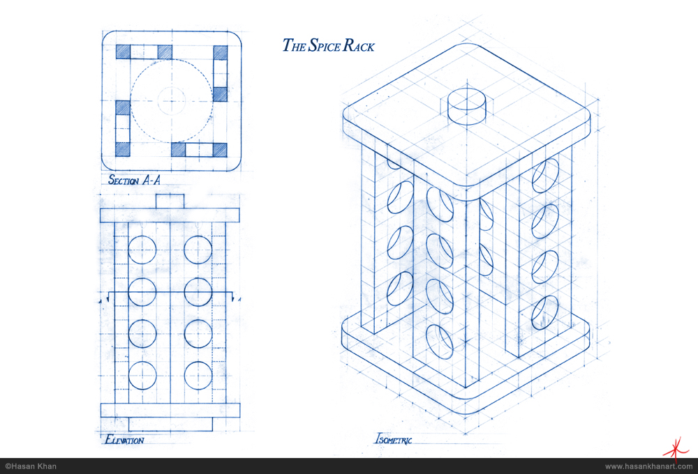 1000x680 Technical Drawing The Spice Rack Hasan Khan