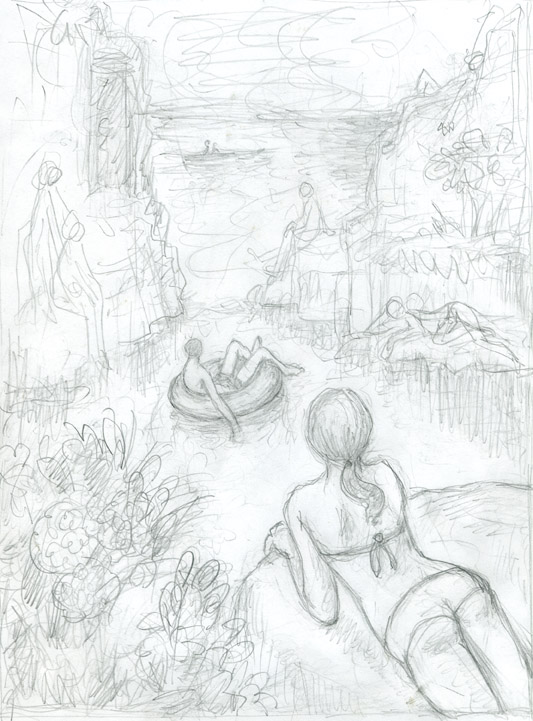533x721 Little Hokum Rag My Drawings For Rose Quarry And Basker's Cove