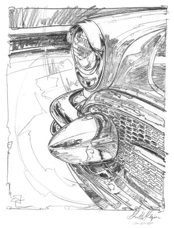 600x786 Classic Car Drawings On Behance