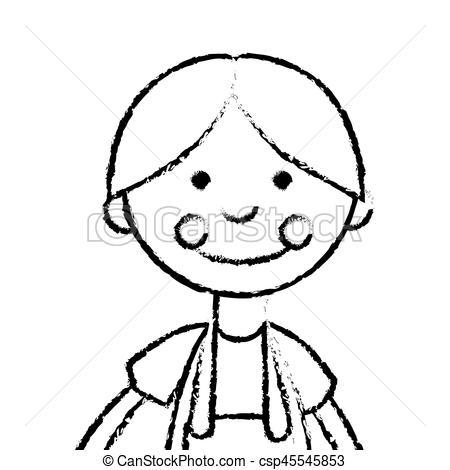 450x470 Cute Rag Doll Icon Vector Illustration Design Clipart Vector