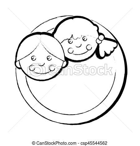 450x470 Cute Rag Dolls Icon Vector Illustration Design Clip Art Vector