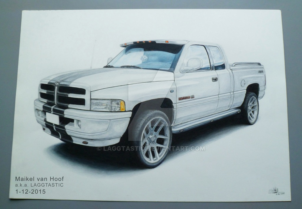 1024x711 Dodge Ram 1500 Drawing By Laggtastic