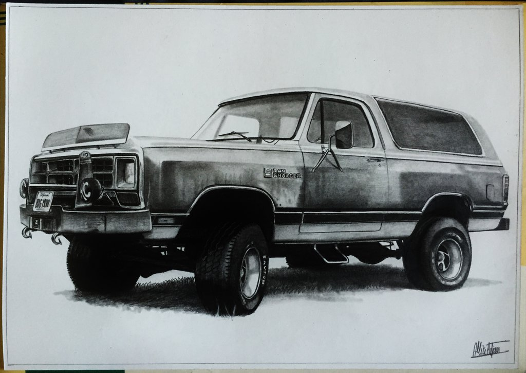 1024x725 Dodge Ram Charger 84' Drawing By Alainmi