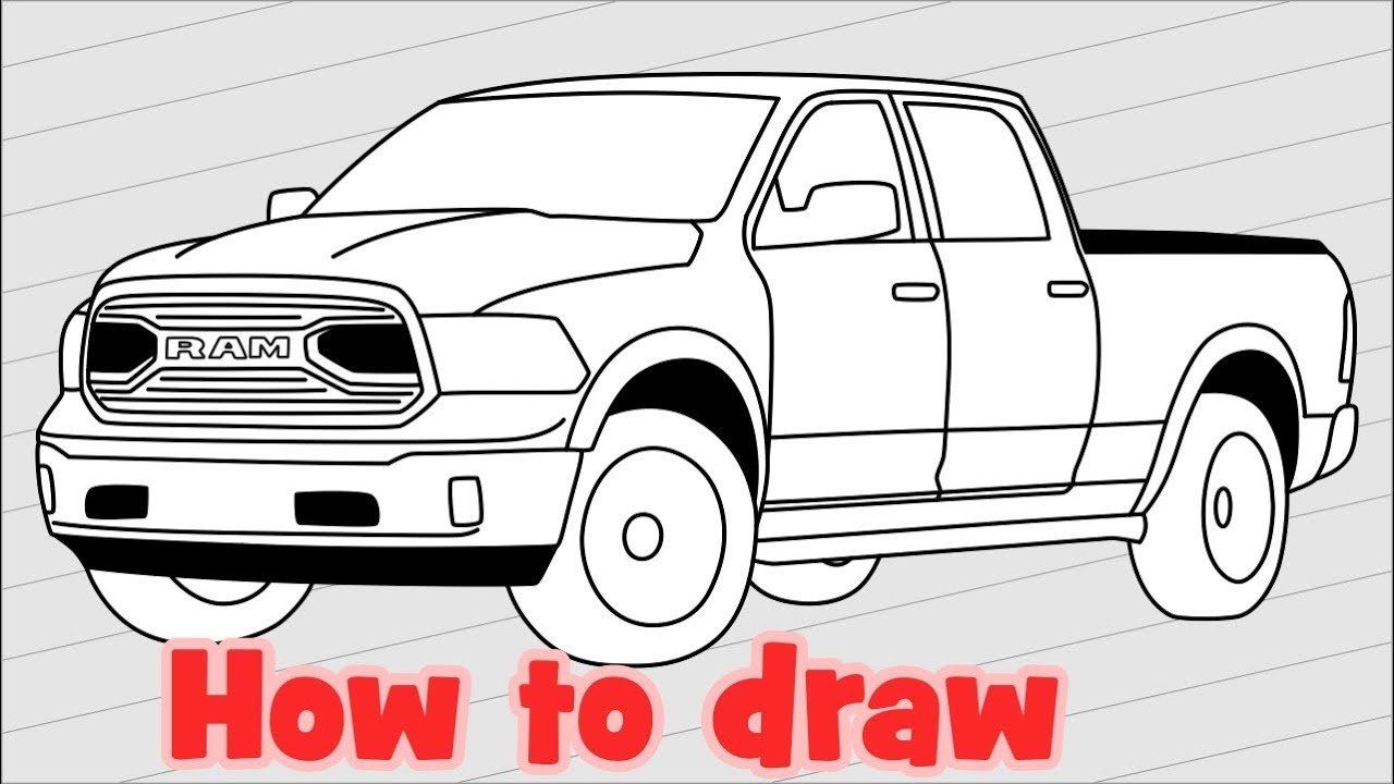 1280x720 How To Draw Truck Dodge Ram 1500