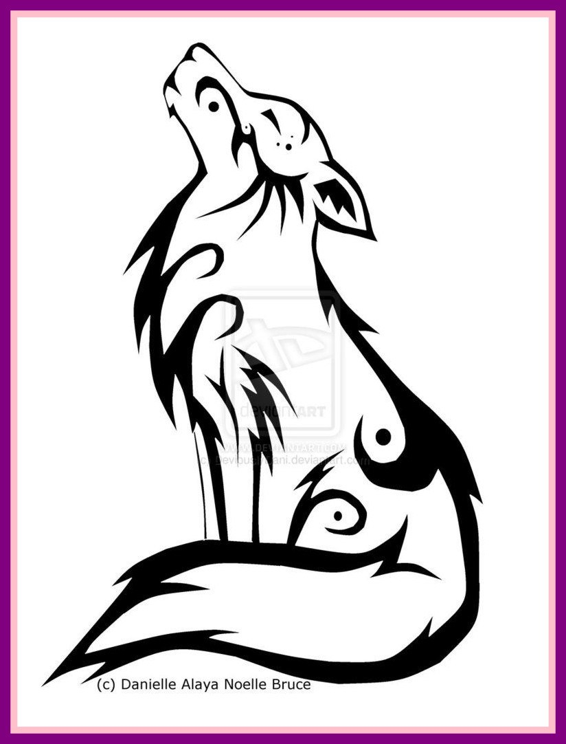 824x1082 Marvelous Tribal Wolf Tattoo The Random Th Page German Shepherd