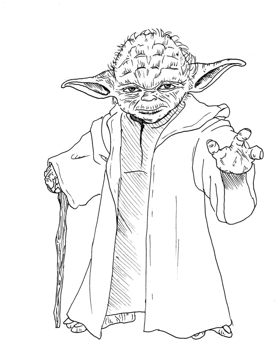 900x1136 First Rate Yoda Coloring Pages Star Wars Yoda Drawing 224
