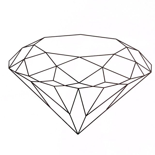 Realistic Diamond Drawing at GetDrawings.com | Free for ...