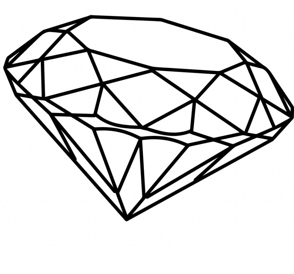 1024x952 Diamond Pencil Drawing 3d Diamond Drawing How To Draw A 3d Diamond
