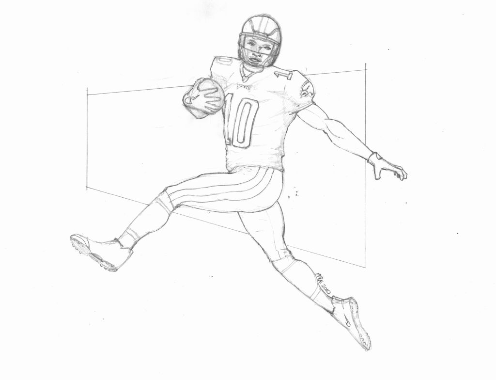 1024x784 Football Player Coloring Pages