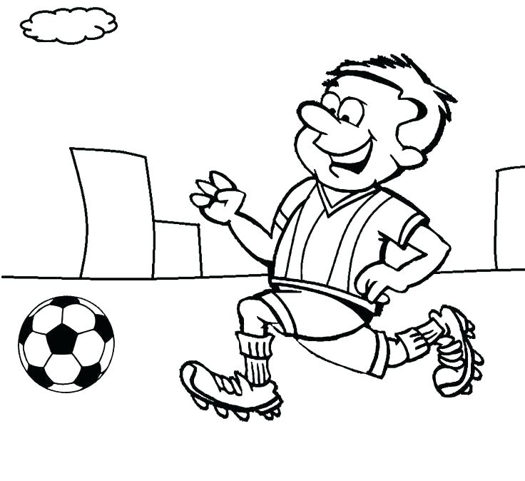 736x674 Football Players Coloring Pages Draw Football Player Coloring