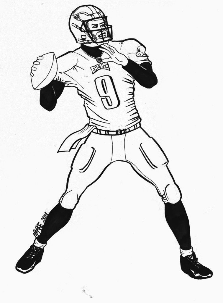 756x1024 Nfl Logo Coloring Pages Kcentar Unbelievable Football Players