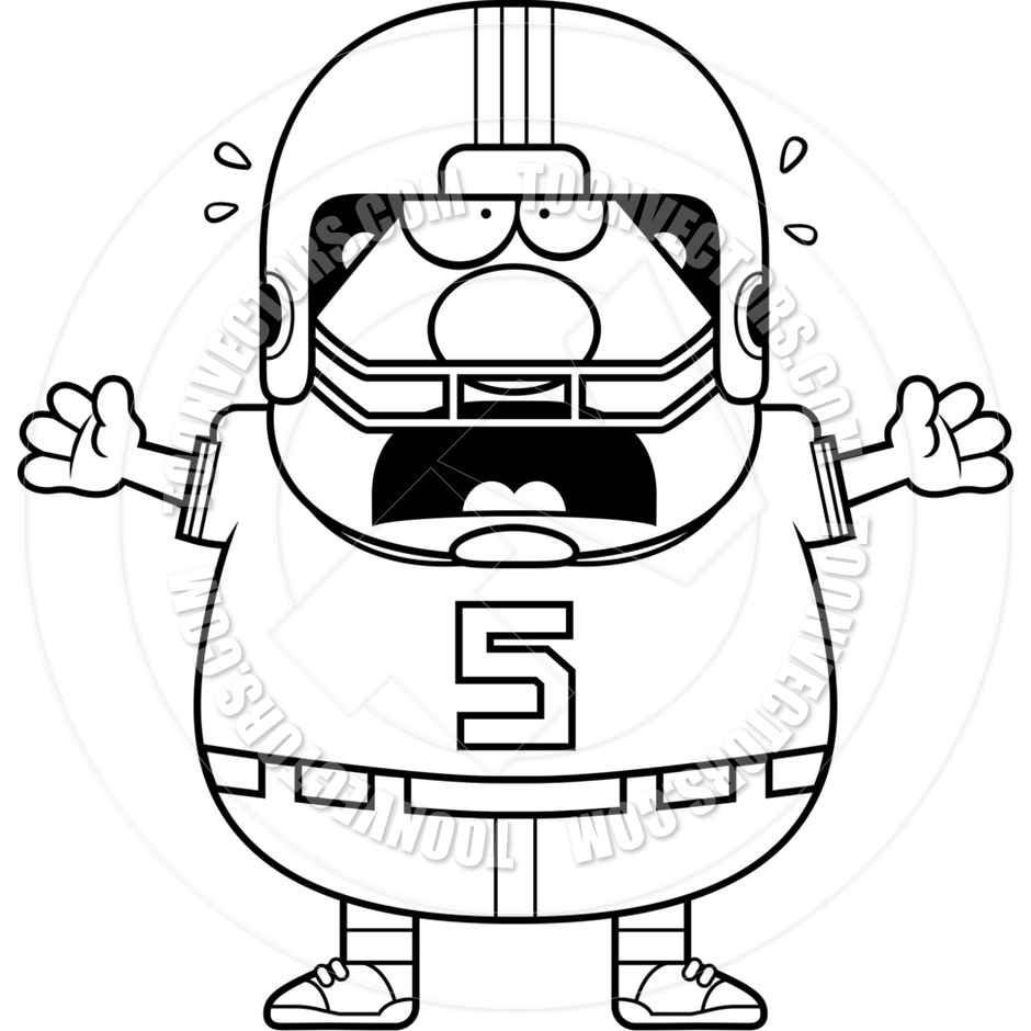 940x940 Scared Football Player Clipart