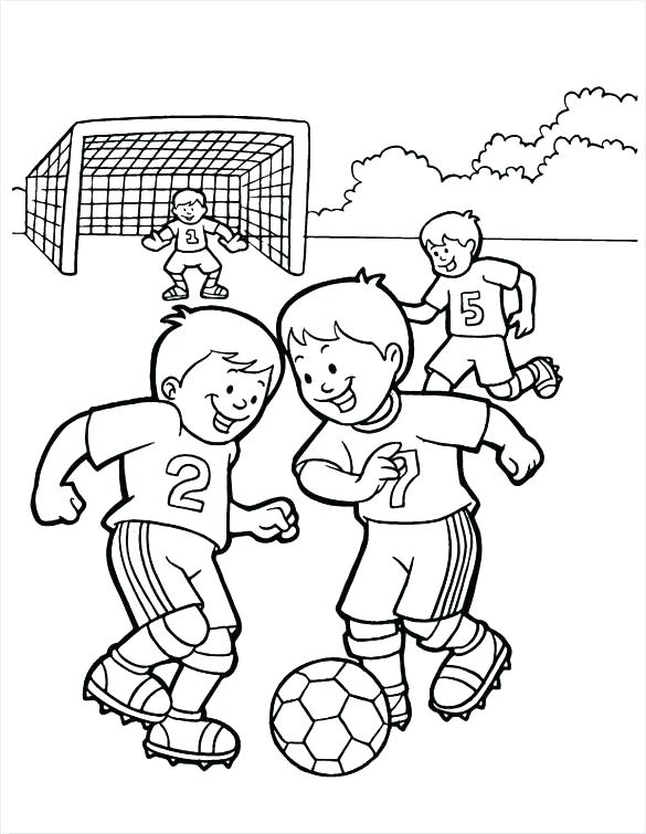 585x755 Soccer Pictures To Color Soccer Players Coloring Pages Pictures