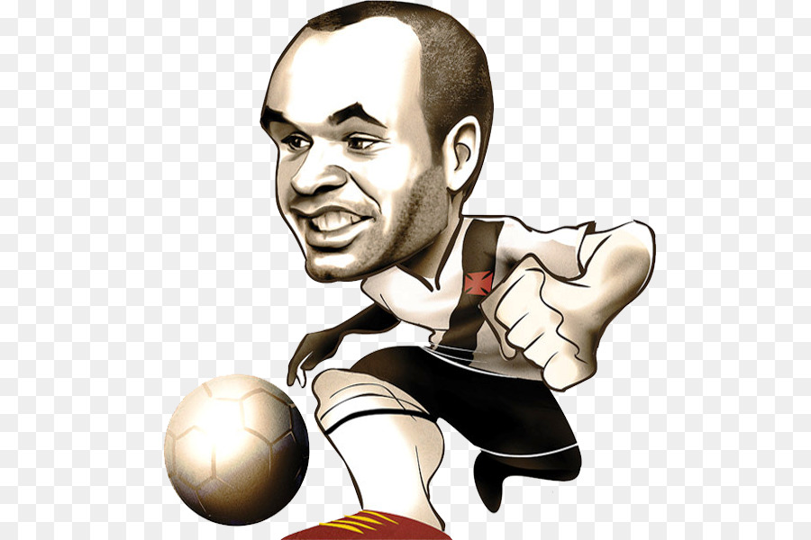 900x600 Caricature Cartoon Drawing Iniesta Argentina National