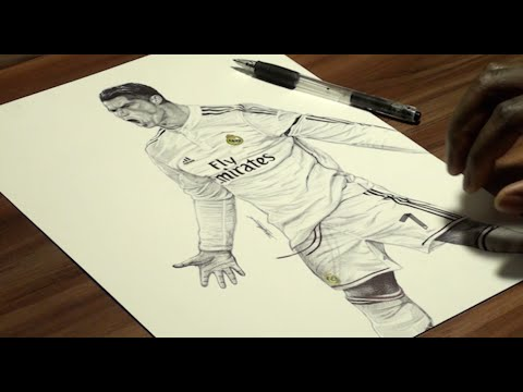 480x360 Cristiano Ronaldo Pen Drawing