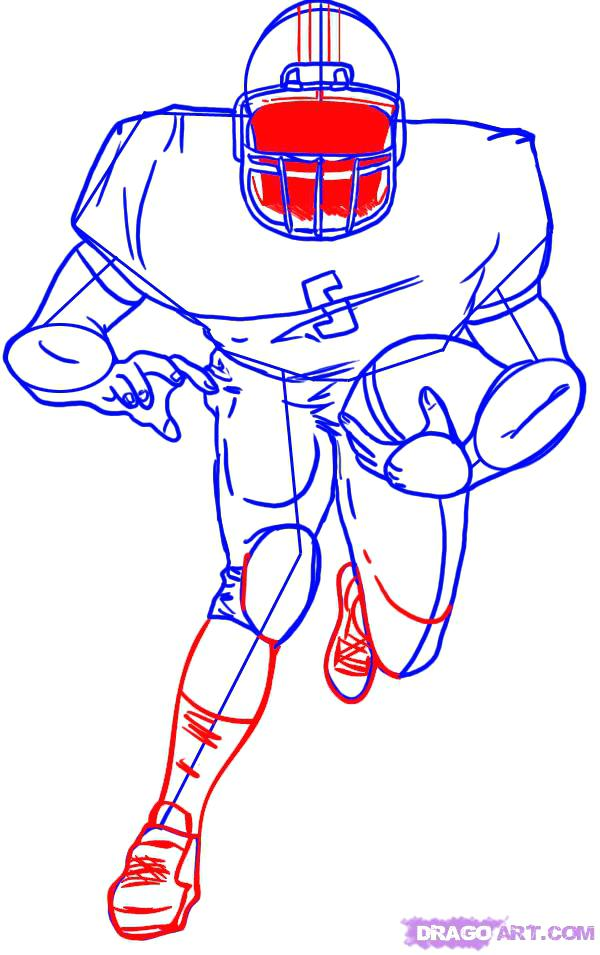 600x955 How To Draw Football Player Inddition To How To Draw