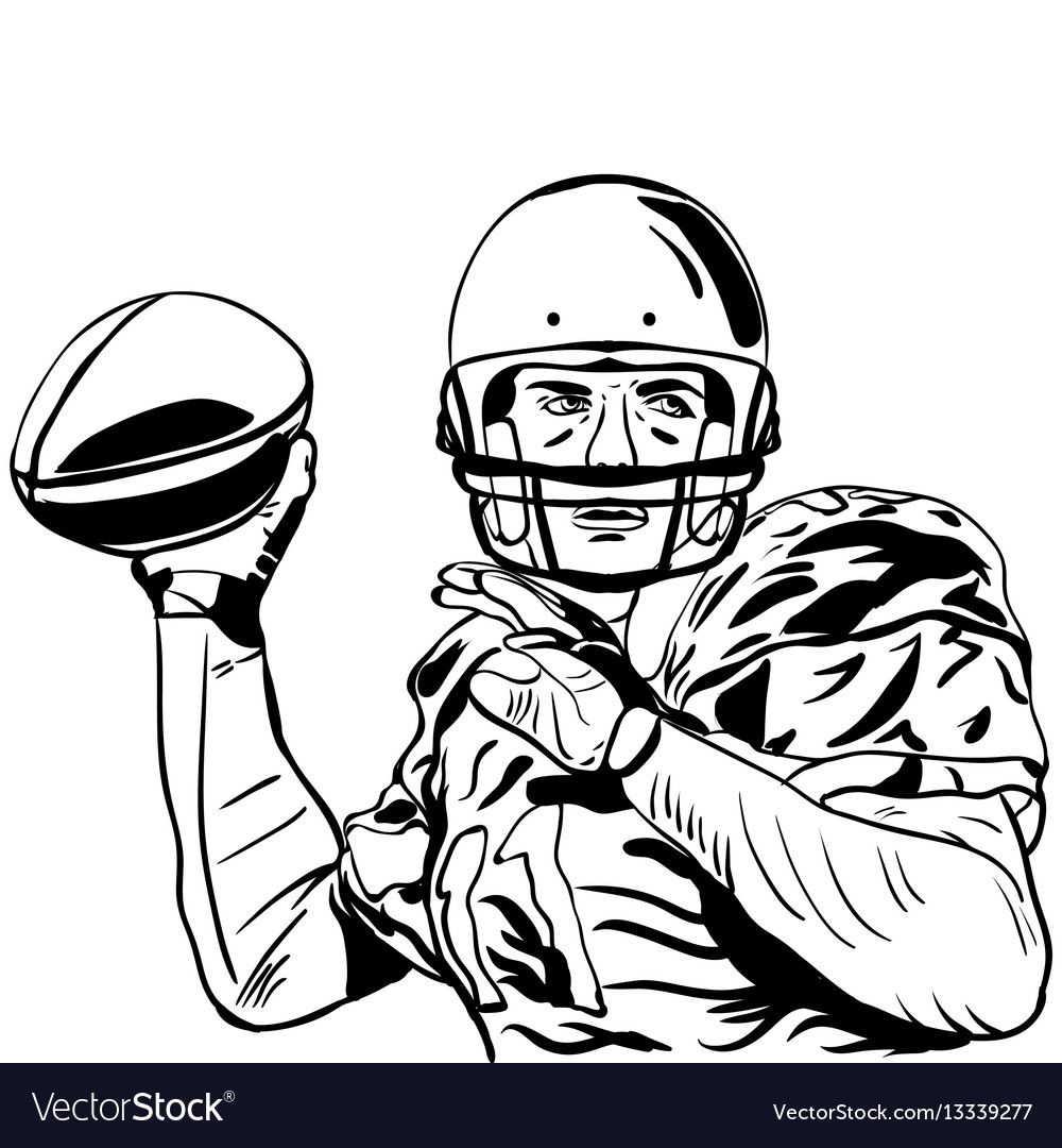 1000x1080 Drawing Of A Football Player Free Download Clip Art